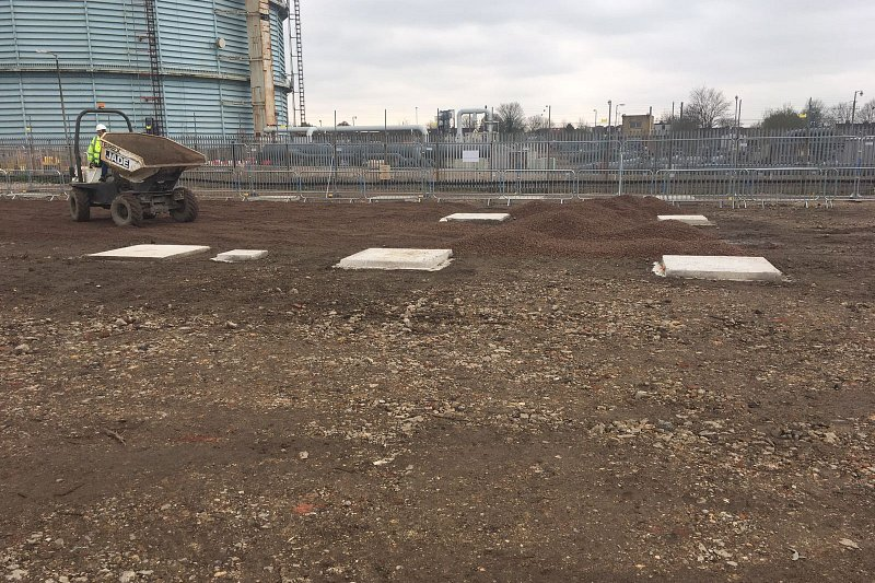 Pad Foundations Poured for New College Building