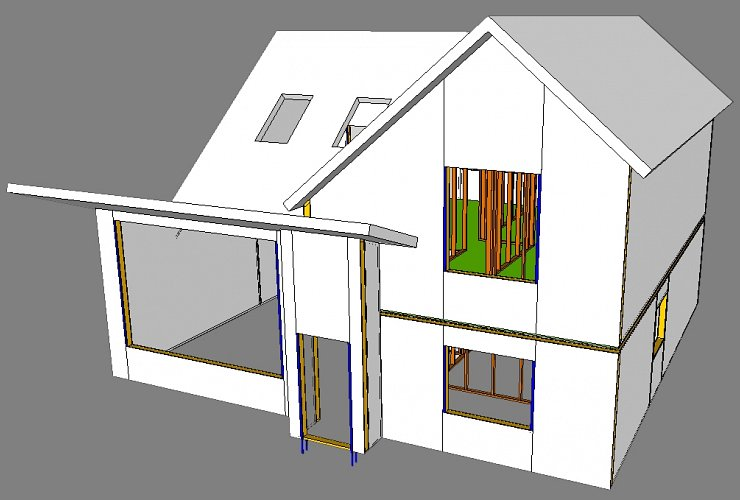 SIP House in Cambridgeshire - 3D Model